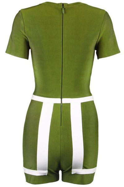 Mini combinaison verte à courtes manches