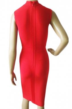 Robe Rouge À Croisillons