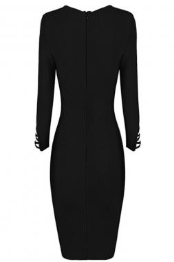 robe noire à lacets asymétriques