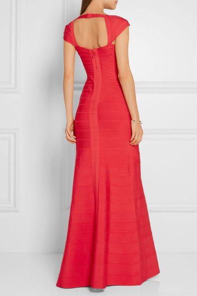 Robes de Soirée Maxi Rouge Sans Manche Gisèle