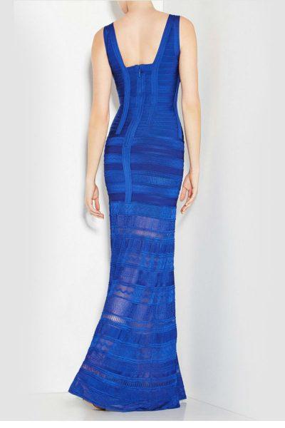 robe bleu marine empiècements en résille
